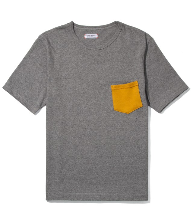 Cash Ca for Hypebeast Charcoal Pocket T-Shirt