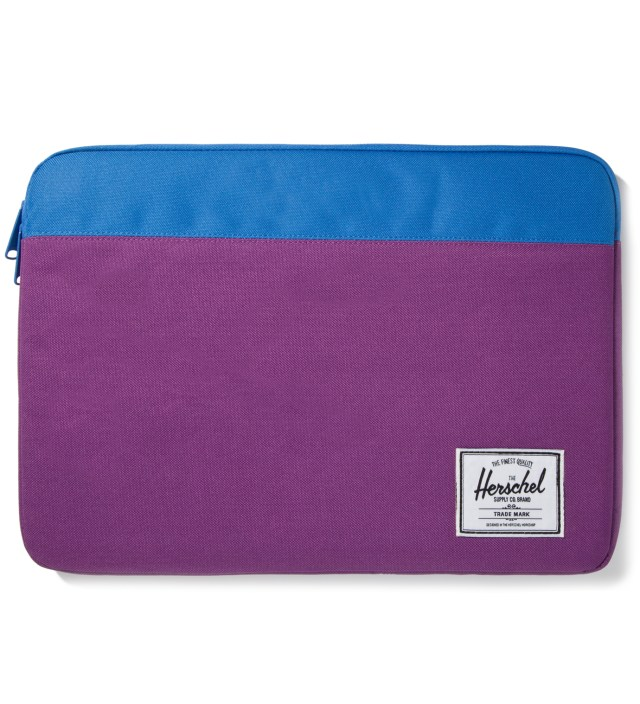 "Purple/Cobalt Anchor Sleeve for 15"" Macbook Pro"