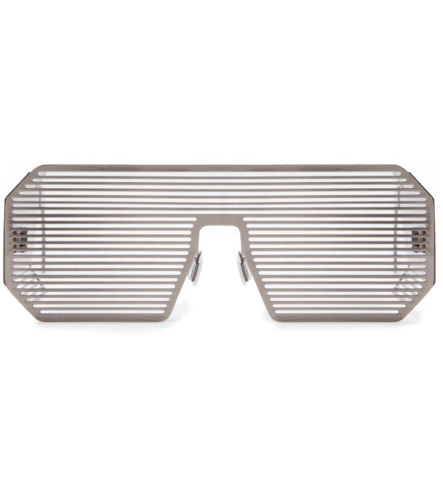Boris Bidjan Saberi x Linda Farrow Matt Silver and Stainless Steel Sunglass