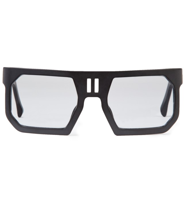Boris Bidjan Saberi x Linda Farrow Black Rectangular Sunglass