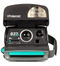 Black Refurbished Vintage Polaroid 600 Box Type Camera