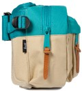 Khaki/Teal Eighteen Hipsack
