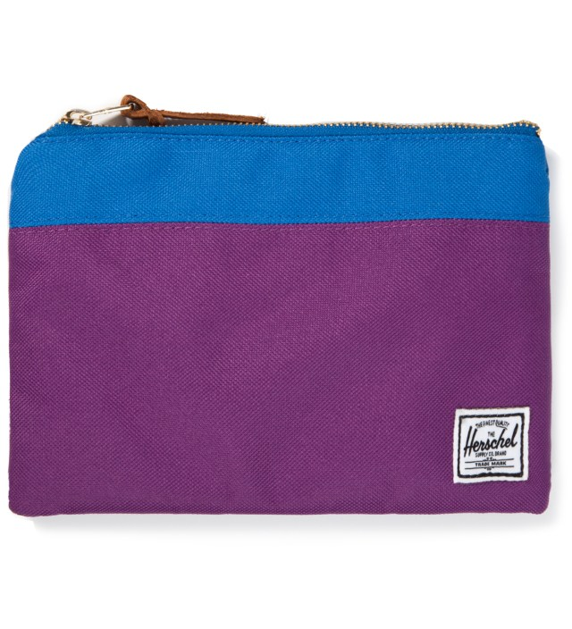 Purple/Cobalt Field Pouch Large