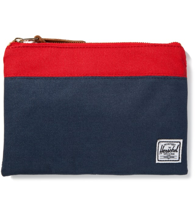 Red/Navy Field Pouch Large
