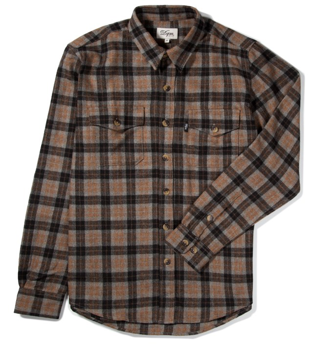 Grey/Mustard Fishkill Plaid Wool Shirt
