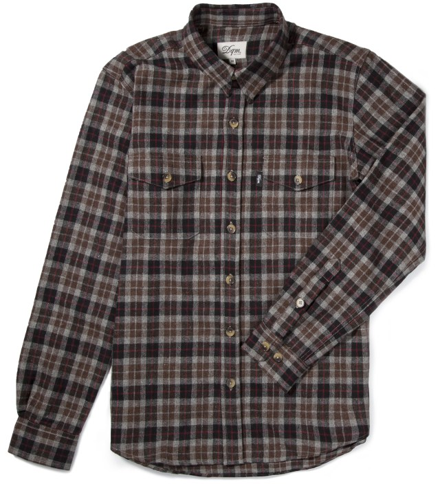 Brown/Black Fishkill Plaid Wool Shirt