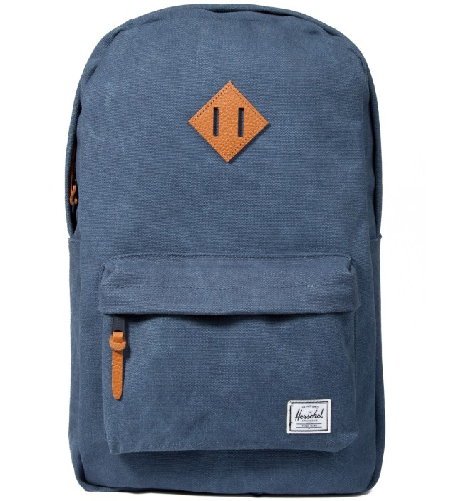 Washed Navy Heritage Canvas Backpack