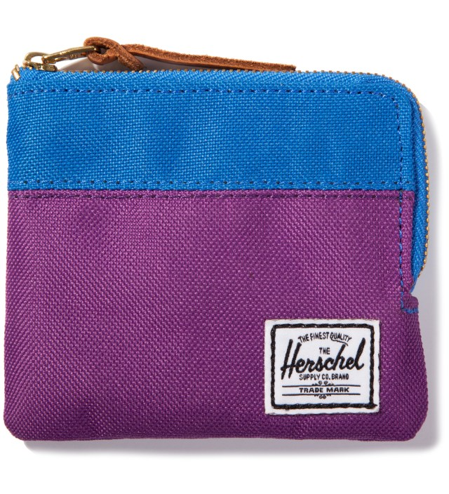 Purple/Cobalt Johnny Wallet