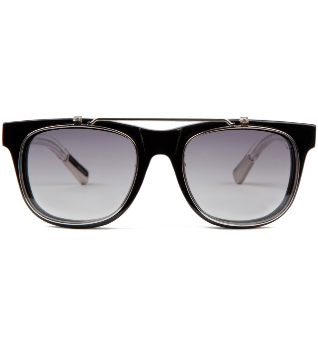 KRISVANASSCHE x Linda Farrow Black With Flip Sunglass