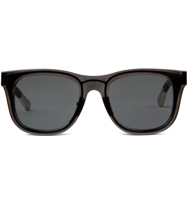 KRISVANASSCHE x Linda Farrow Trans Black With Metal Sunglass