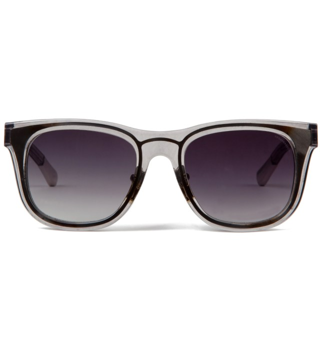 KRISVANASSCHE x Linda Farrow Trans Smoke With Metal Sunglass