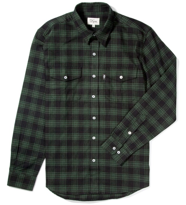 Black/Green Kodiak Cotton Flannel Shirt