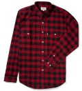 Black/Red Kodiak Cotton Flannel Shirt