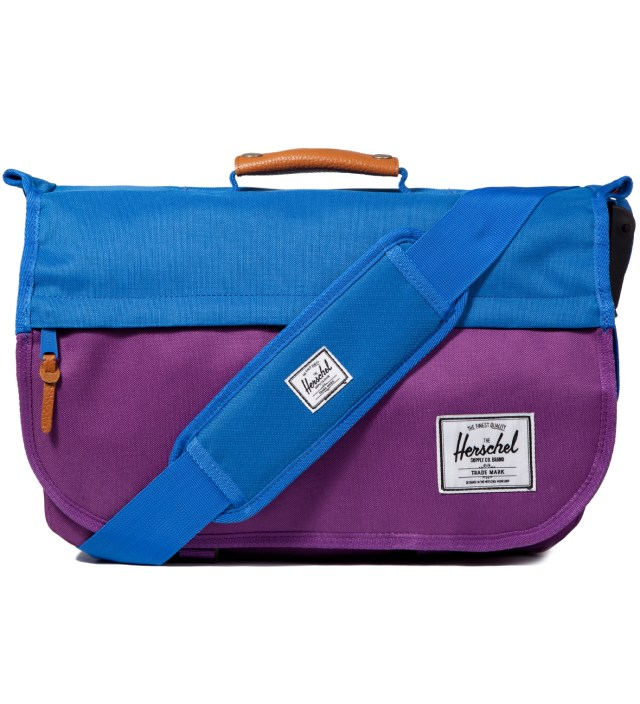 Purple/Cobalt Mill Messenger Bag