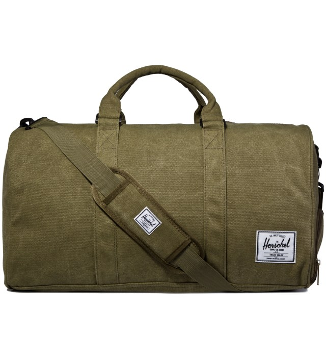 Washed Army Novel Canvas Bag