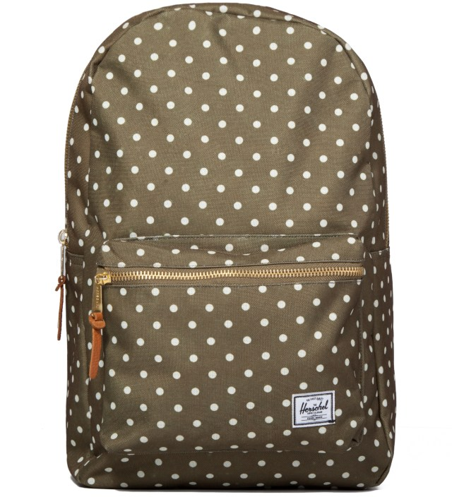 Olive Polka Dot Settlement Backpack