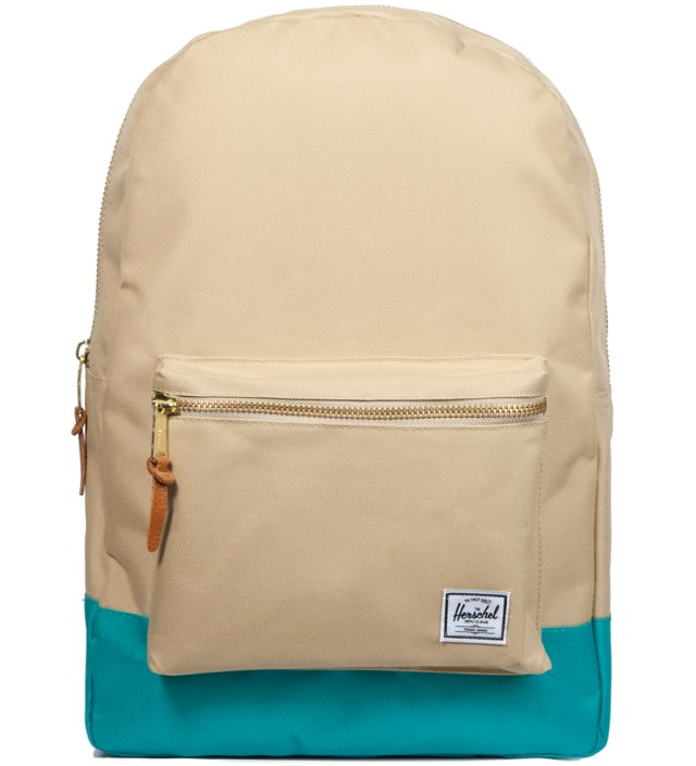 Khaki/Teal Settlement Backpack