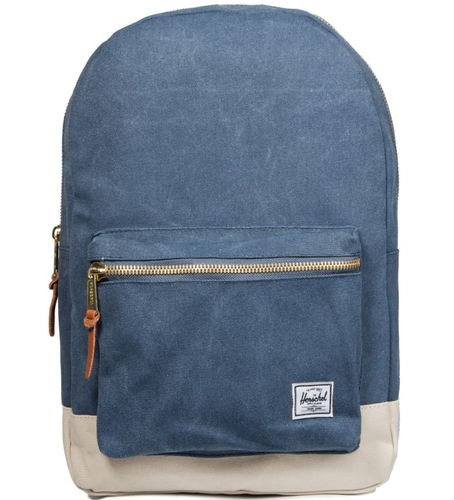 Washed Navy/Natural Settlement Canvas Backpack
