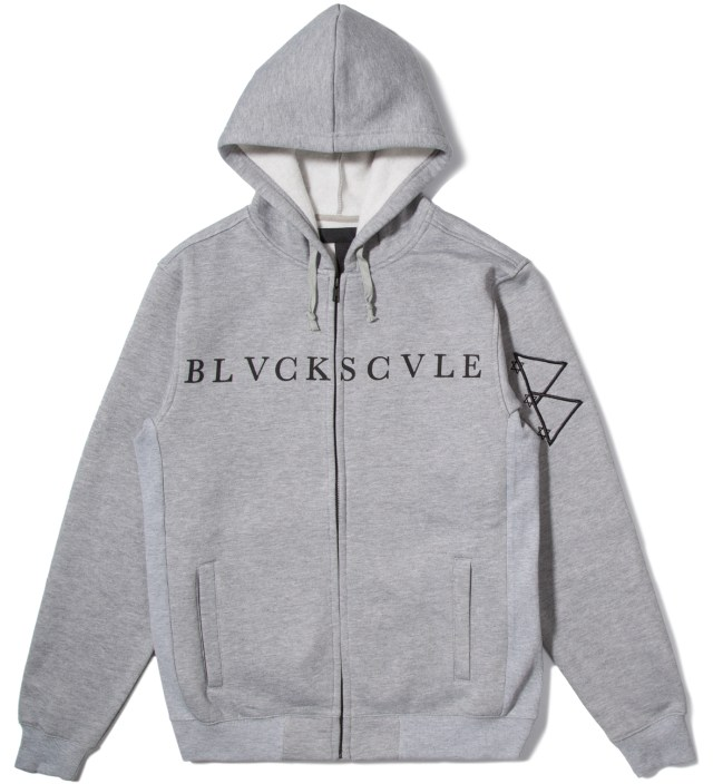 Heather Grey Logotype Zip Hoodie