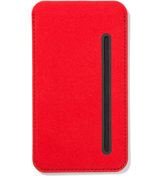 Carmine Red Card Pouch for iPhone 5