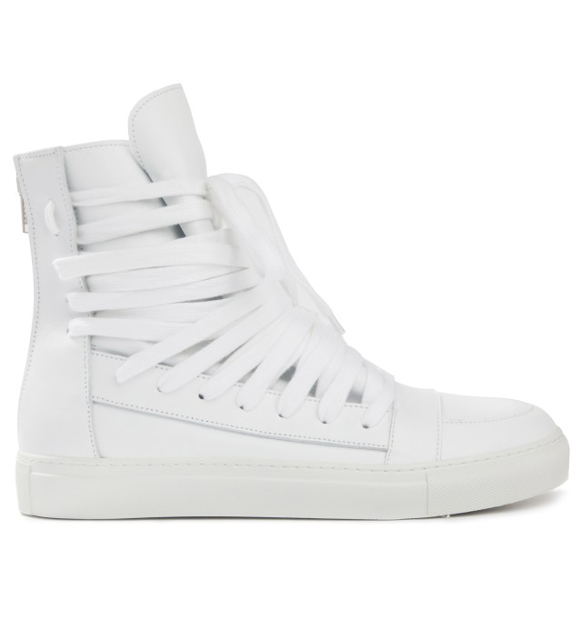 White Multi Laces Sneakers