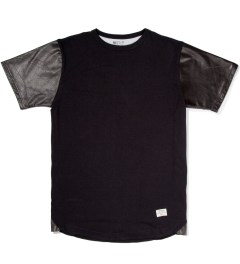 Mister Black Mr. Hide Leather Sleeve T-Shirt Picutre