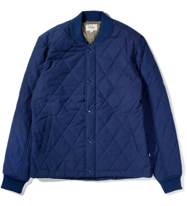 Navy Sheppard Diamond Quilted Jacket