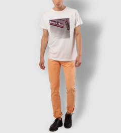 Warriors of Radness Yellowish Apricot Prism Jeans Model Picutre