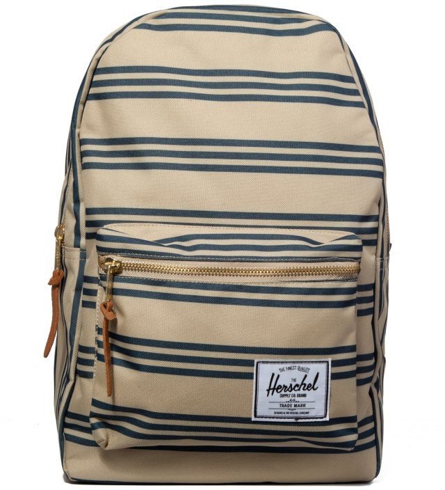 Navy/Khaki Stripe Settlement Plus Backpack
