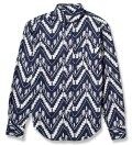 Navy Ikat Slim Fit button Down Shirt