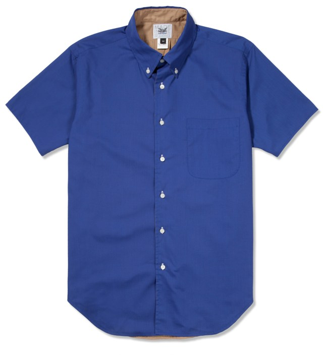 Royal/Tan SS Reversible BD Shirt