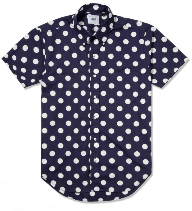 Navy With White Dot SS Big Dot BD Shirt