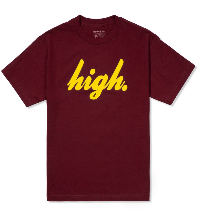 Maroon/Yellow Domo High T-Shirt