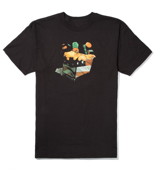 Black American Waste T-Shirt