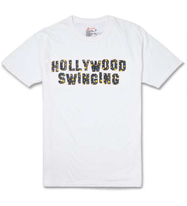 White Hollywood Swinging T-Shirt