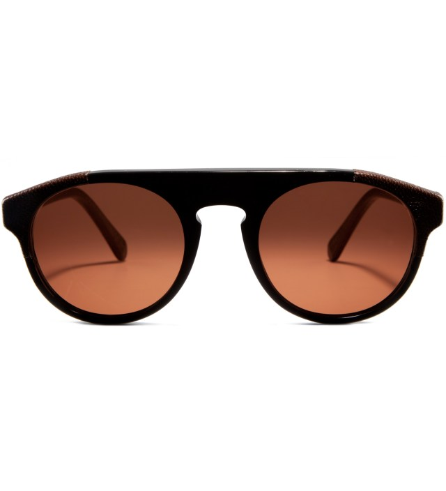 Racer Leather and Acetate Sunglasses