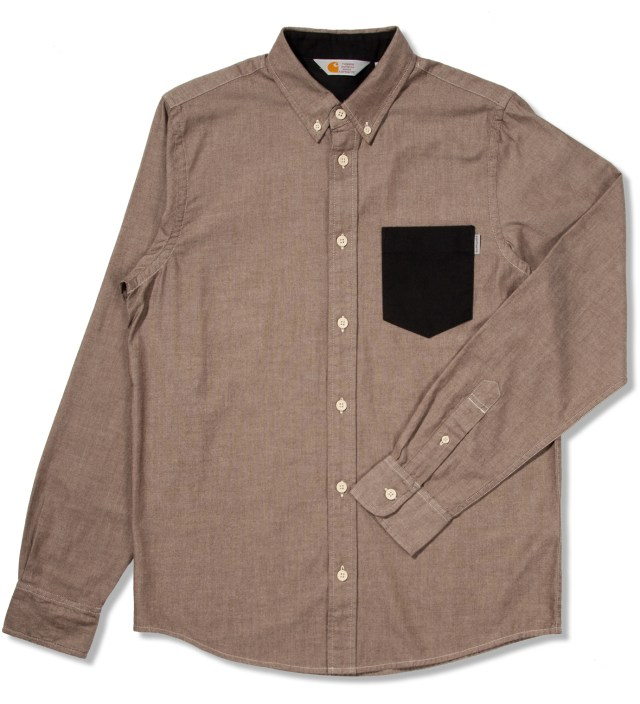 Tobacco/Craw Black Stone Washed Alfred Shirt