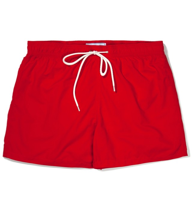 Red Swimmers Swim Trunks