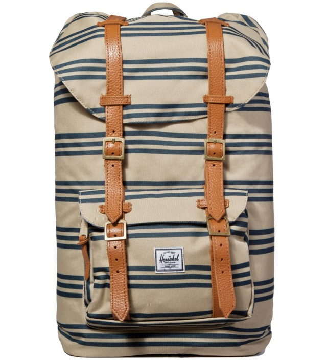 Navy/Khaki Stripe Little America Backpack