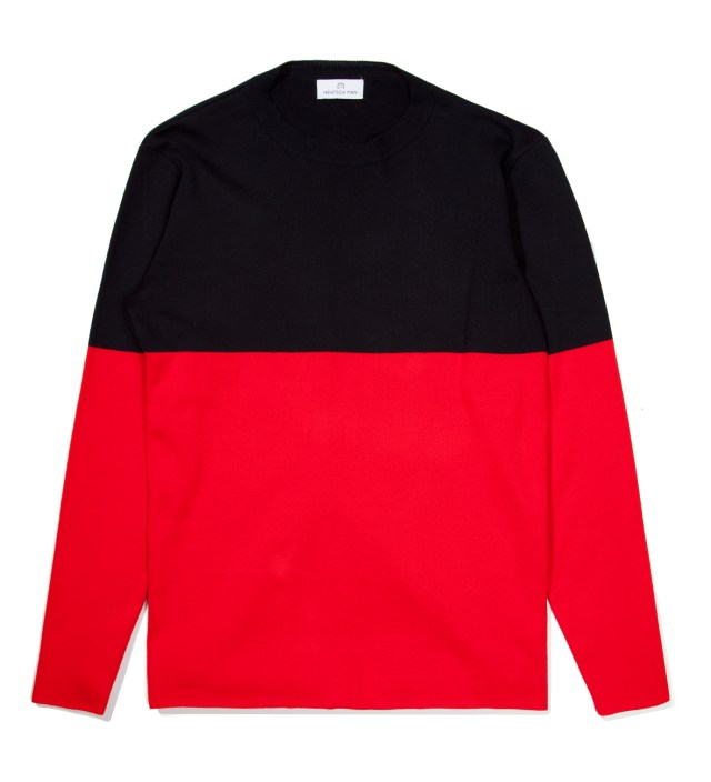 Navy/Red Marni Block 1 Sweater