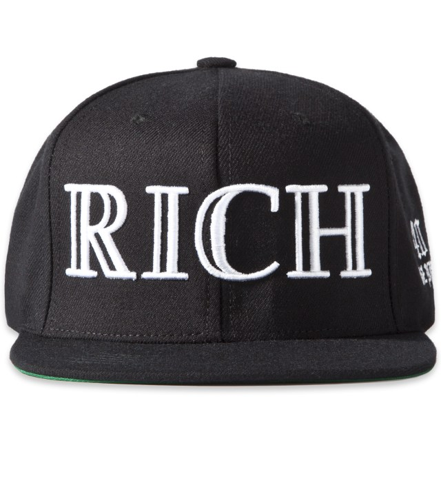 Black RICH Snapback Cap