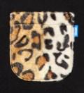 Black Faux Fur Leopard Pocket T-Shirt