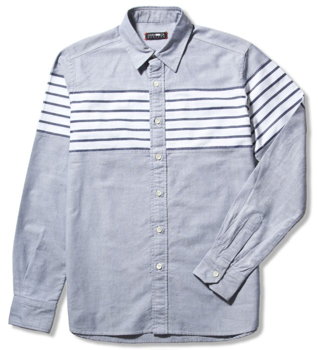 Navy Chest Border Shirt
