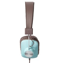 eskuché Baby Blue/Brown Control v2: On-Ear Headphone With Apple 3 Button Mic Model Picutre