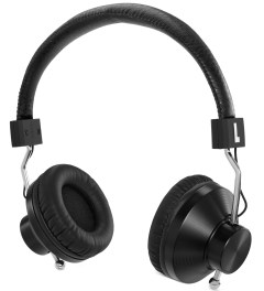 eskuché Black 45Sv2: DJ/Studio Monitor On-Ear Headphone With Apple 3 Button Mic Picutre