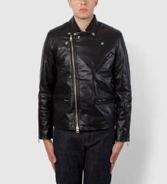 MKI BLACK Black Biker Jacket Model Picutre
