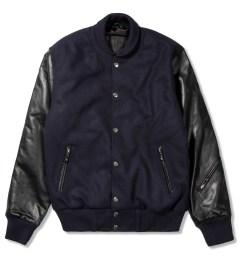 MKI BLACK Navy/Black Varsity Jacket Picutre