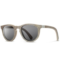 Shwood Stone Belmont: White Slate - Grey Polarized Model Picutre