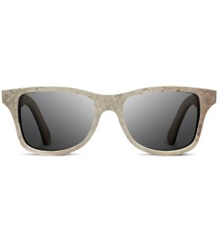 Shwood Stone Canby: White - Grey Polarized Sunglasses   Picutre