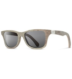 Shwood Stone Canby: White - Grey Polarized Sunglasses   Model Picutre